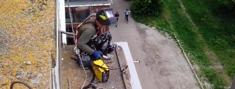 Ремонт балконных козырьков Хмельницкий