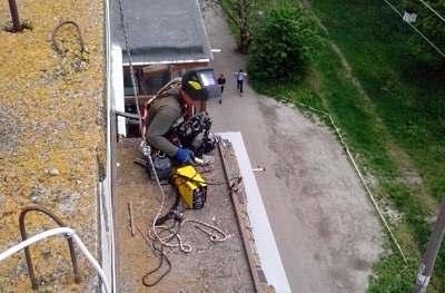 Ремонт балконных козырьков в Хмельницком
